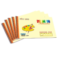 凯萨(KAISA)中小学生图画本加厚110g纸线圈素描本(16张) A4 5本装  01572
