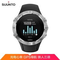 颂拓(SUUNTO)斯巴达 酷跑 光电心率 GPS海拔 50M游泳防水 精钢表盘 跑步 骑行 智能手表 精钢黑色
