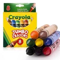 绘儿乐 Crayola 美国进口 8色幼儿专用特大蜡笔 52-0389