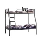 奈高双层床铁架床铁床上下床高低员工学生宿舍家用公寓床双人床工地工人床含床板款3
