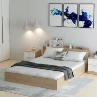 好事达易美定制双人床1.5米 浅木纹色BJ01