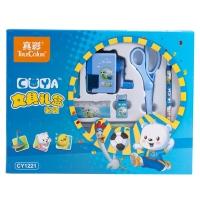 真彩(TRUECOLOR)小学生文具礼盒男 儿童文具礼盒 学习用品 7件套时尚礼包 蓝色/CY1221