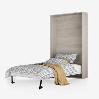 好事达易美定制竖翻床 隐形床墨菲床送床垫 1.0m沙漠胡桃SF011