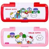 广博(GuangBo)加宽两层文具盒/铅笔盒学习用品 凯蒂猫款式随机 单个装KT85053
