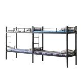 奈高钢制铁床连体双层床高低床学生床员工床上下铺监狱床部队床工地床款5
