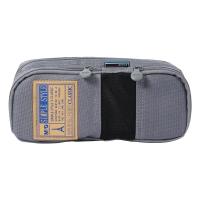 晨光(M&G)文具灰色网格多功能多层大号笔袋文具盒收纳袋 单个装APB93599