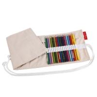 德国辉柏嘉(Faber-castell)50孔彩铅笔帘笔袋 卷式布艺帆布笔帘素描彩色铅笔笔袋