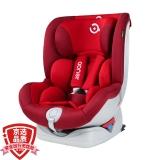 阿布纳Abner 德国婴儿童安全座椅汽车用0-4-12岁 360度旋转可躺isofix硬接口 宇航员007(波尔红)