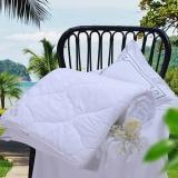 富安娜家纺空调被子 暖气房被可水洗印花被芯 纤维薄被芯 双人加大 跃动 1米8床/2米床(230*229cm)白色