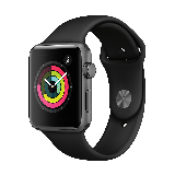 Apple Watch Series 3智能手表(GPS款 42毫米 深空灰色铝金属表壳 黑色运动型表带 MTF32CH/A)