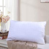 富安娜家纺 枕头芯酒店枕芯单人纤维软枕 纯棉面料成人枕头 恬心枕 74*48cm 白色