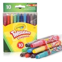 绘儿乐 Crayola 10色迷你装可拧转蜡笔 美国进口 转转笔 52-9715