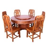 粤顺红木餐桌 实木餐台 花梨木圆饭桌H301