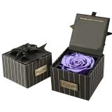 Para Ella紫色进口永生花玫瑰花礼盒同城鲜花速递520情人节鲜花生日母亲节礼物送女生送女友送妈妈