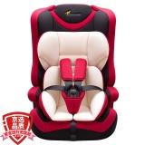 贝贝卡西 安全座椅3C认证儿童安全座椅可折叠汽车幼儿座椅车用新生婴儿9月-12岁宝宝座椅  513经典红色