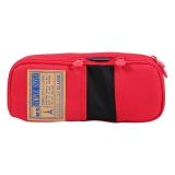 晨光(M&G)文具红色网格多功能多层大号笔袋文具盒收纳袋 单个装APB93599
