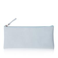 kinbor簡約皮面文具袋/女款鉛筆袋/收納包學生用品 淺藍DTB2006