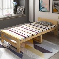 中伟折叠床单人床成人实木床经济型简易床封闭式床头1950*1000*400