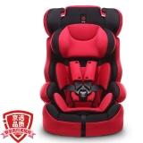 感恩ganen 宝宝汽车儿童安全座椅 旅行者 红黑色 9个月-12岁