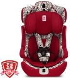 感恩(ganen)宝宝汽车儿童安全座椅阿瑞斯 钢骨架汽车isofix硬接口 9个月-12岁 嘻哈红