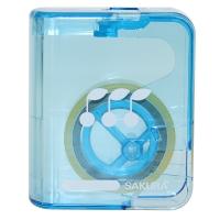 日本樱花(SAKURA)胶带盒透明胶玻璃胶 带切割器(蓝色) 小学生文具系列 【日本进口】