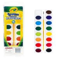 绘儿乐(Crayola)16色可水洗固体颜料 美国进口 学生美术用品 绘画文具 油画练习工具 53-0555