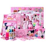 迪士尼(Disney)开学文具套装书包水杯文具礼盒17件套尊雅学习大礼包粉色 DM0900-5B