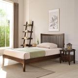 华谊(HUAYI)床头柜 一抽屉实木床边柜 美式简约储物柜子胡桃色 华盛顿7C6503101