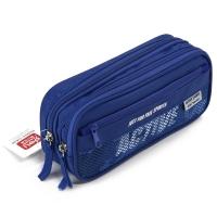 得力(deli) 3074 時尚運動款筆袋 藍色