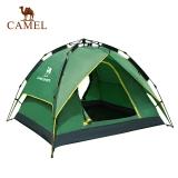 骆驼牌 户外双人帐篷3-4人全自动速开双层帐篷双门通风 A9S3H8101  绿色
