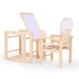 晨辉(CHBABY)儿童餐椅实木五合一多功能宝宝餐椅 婴儿餐椅 可当书桌 自带绘画板 高低两档801 米色