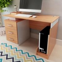 美宜德曼 电脑桌 普斯左三抽柜升级款办公桌橡木色 写字台学习桌写字桌