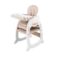 萌大圣 宝宝餐椅多功能学习桌椅儿童吃饭椅子婴幼儿餐椅可调节椅子 京东自营 卡其色
