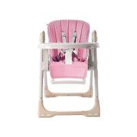 babycare儿童餐椅多功能便携式可折叠宝宝餐椅 8500粉色