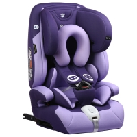 路途乐(Lutule) 汽车儿童安全座椅isofix硬接口 3C/ECE 9个月-12岁宝宝座椅 AirC系列 兰花紫