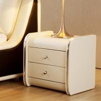 A家家具 床头柜 简约主卧婚床榻榻米欧式家具 床边储物柜 DA0206