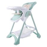 帛琦(Pouch)多功能儿童餐椅可坐可躺可折叠薄荷绿JD限量款