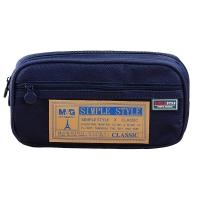晨光(M&G)文具藍色大號多功能筆袋 多層文具盒 鉛筆收納袋 單個裝APB93598