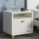 掌上明珠家居 北欧烤漆床头柜 简约板木带抽屉斗柜 卧室家具收纳储物柜子 ESA417-A152