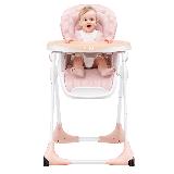 爱音(Aing)儿童餐椅欧式多功能婴儿餐椅四合一宝宝餐桌椅可折叠便携限量版裸杏色JC018