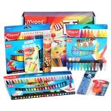 马培德(Maped)CH899927 小画家套装 (水彩笔+彩色铅笔+油画棒+转笔刀+尺+橡皮)