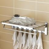 艾心依然 浴室挂架 304不锈?#32622;?#24062;浴巾架 ?#27490;?#21452;面拉丝 打钉安装非免钉胶粘款