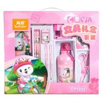 真彩(TRUECOLOR)小學生文具禮盒女 兒童文具禮盒 學習用品 13件套時尚禮包 粉色/CY1222