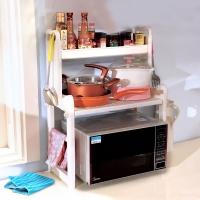 寶優妮 廚房 微波爐置物架 調料收納架 碗碟架象牙色DQ1305