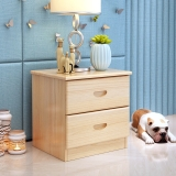 中伟经济型床头柜简约现代简易储物柜组装实木迷你卧室床边储物柜450*450*350