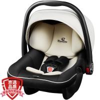 德国怡戈(Ekobebe)新生婴儿提篮式儿童安全座椅宝宝便携式汽车安全车载手提篮 适合0-15个月EKO-007米黑色