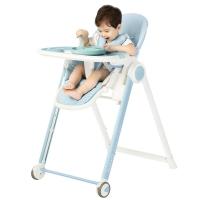 爱音(Aing)儿童餐椅 欧式多功能婴儿餐椅四合一宝宝餐椅可折叠便携JA619蓝色