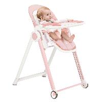 爱音(Aing)儿童餐椅 欧式多功能婴儿餐椅四合一宝宝餐椅可折叠便携JA619粉色JOY版
