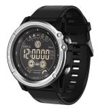 魔派MOONPI 蓝牙智能手表EX26 男女成人运动电子手表多功能睡眠计步防水手环来电短信提醒腕表 太空银
