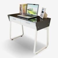 家乐铭品 书桌 双抽电脑桌钢化玻璃办公桌抽屉学习桌工作台ZC1124